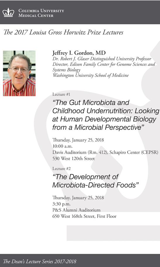 Flyer for Horwitz Lecture