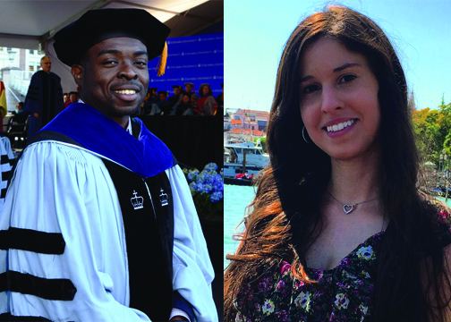 photos of Dr. Chinweike Okegbe and Dr. Nicole Benvin