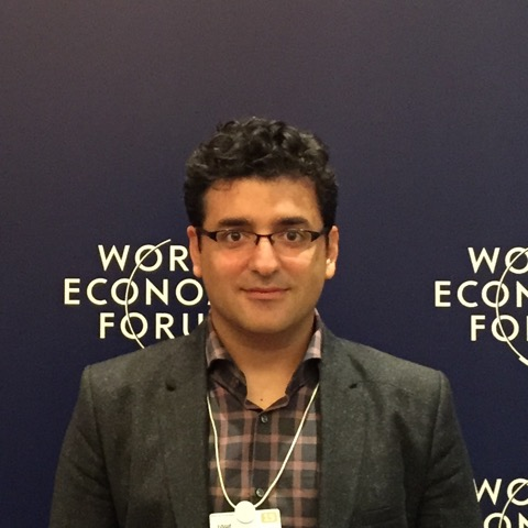 photo of Ozgur Sahin at the World Economic Forum