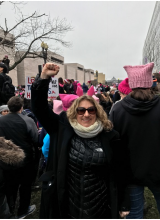 Photo of Emmanuelle Passegué at Woman's March